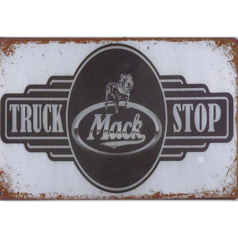 Mack Truck Stop Tin Sign-Mr Revhead