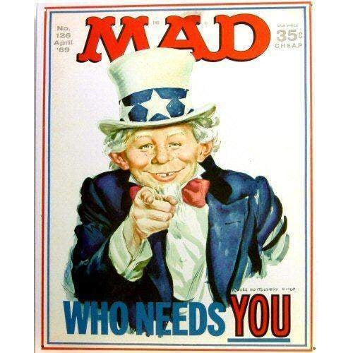 MAD Who Needs You Tin Sign-Mr Revhead