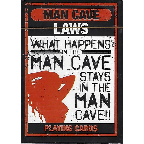 Man Cave Laws Playing Cards-Mr Revhead