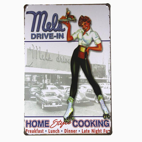 Mels Drive In Tin Sign-mightymoo