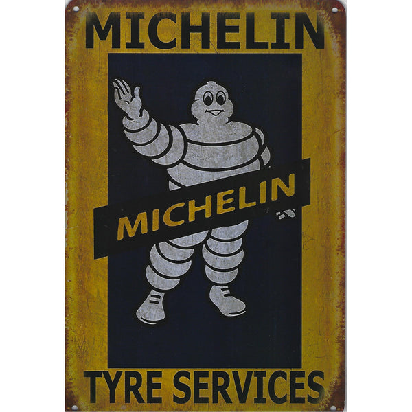 Michelin Tyre Services Tin Sign-Mr Revhead