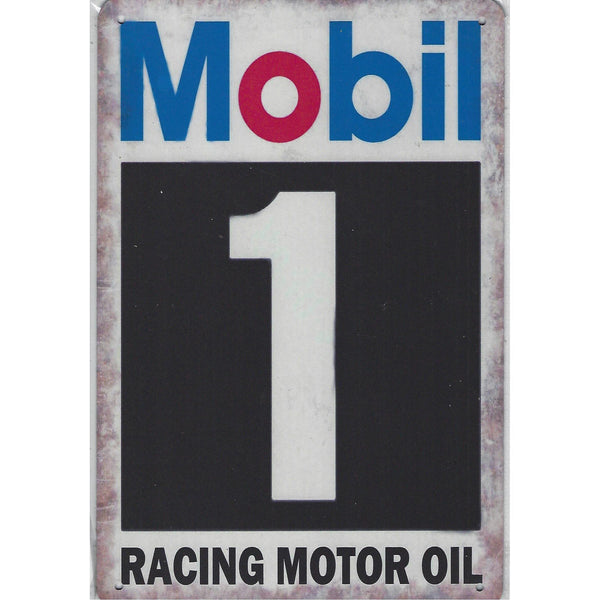 Mobil 1 Racing Oil Tin Sign-Mr Revhead