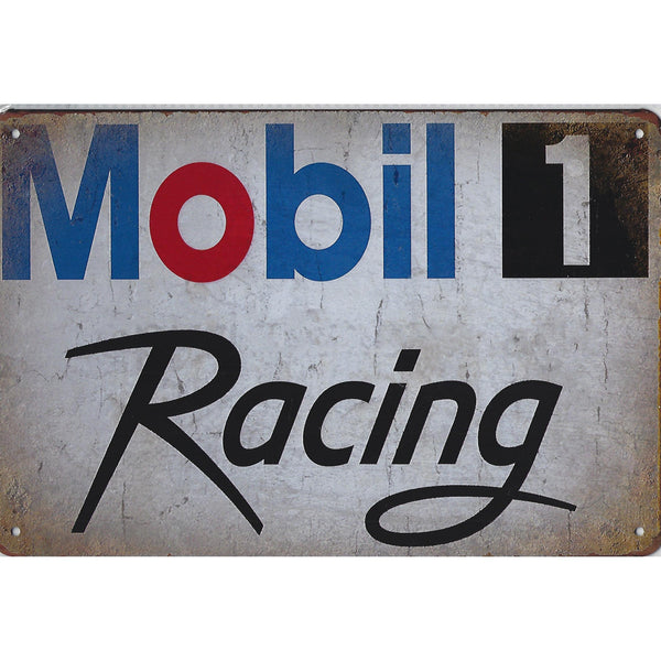 Mobil 1 Racing Tin Sign-Mr Revhead