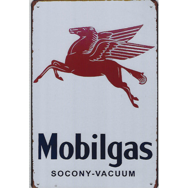 Mobil Gas Pegasus Tin Sign-Mr Revhead