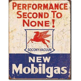 Mobil Gas Performance Second To None! Tin Sign-Mr Revhead