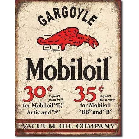 Mobil Oil Gargoyle Tin Sign-Mr Revhead