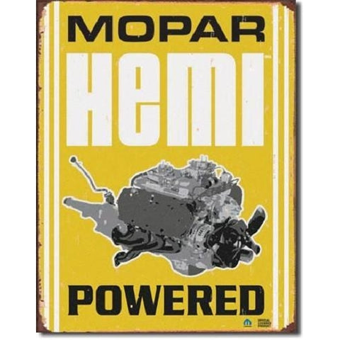 Mopar - Hemi Powered Tin Sign-Mr Revhead