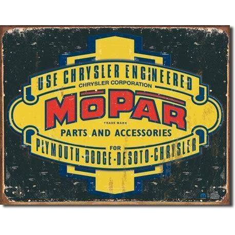 Mopar Logo Tin Sign-Mr Revhead