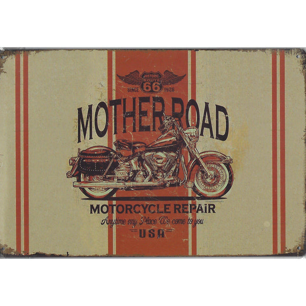 Mother Road Route 66 Tin Sign-Mr Revhead