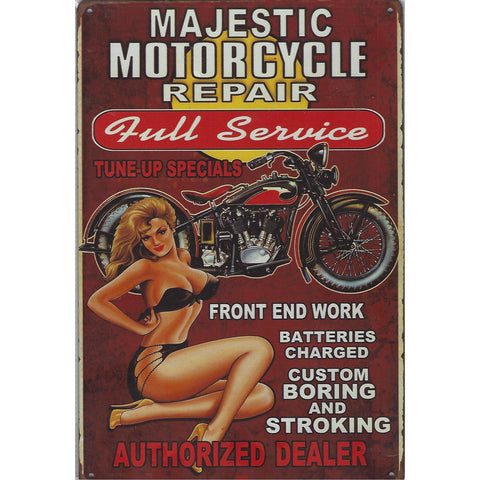 Motorcycle Repair Tin Sign-Mr Revhead
