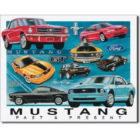Mustang Chronology Tin Sign-mightymoo