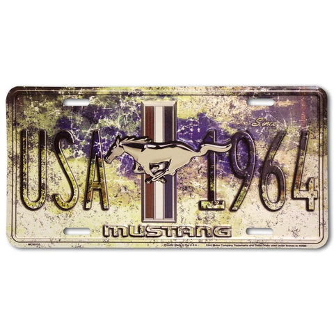Mustang Since 1964 USA License Plate-mightymoo