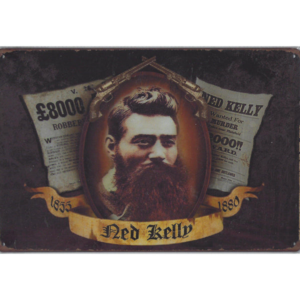 Ned Kelly Tin Sign-Mr Revhead