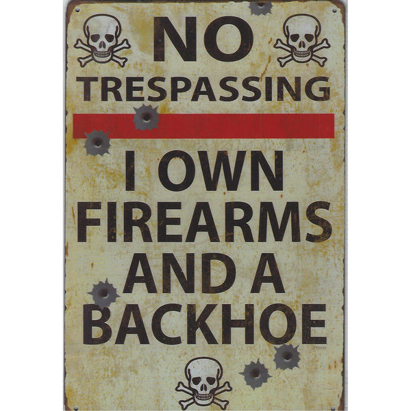 No Trespassing Tin Sign-Mr Revhead