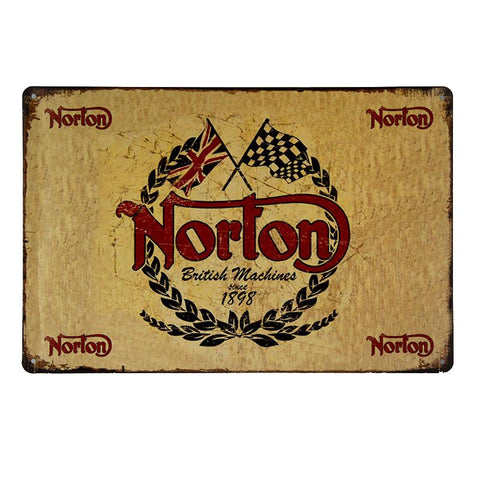 Norton British Since 1898 Tin Sign-Mr Revhead