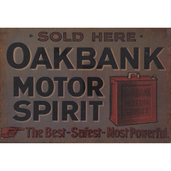 Oakbank Motor Oil Tin Sign-Mr Revhead