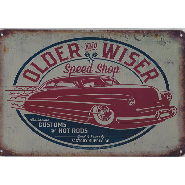 Older & Wiser Tin Sign-Mr Revhead