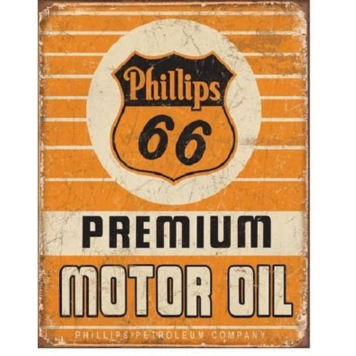 Phillips 66 Premium Oil Tin Sign-Mr Revhead