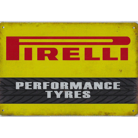 Pirelli Tyres Tin Sign-Mr Revhead