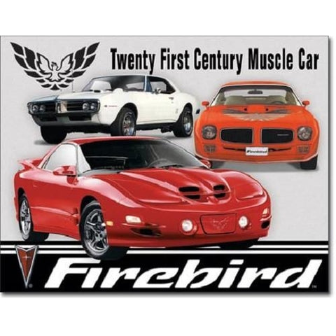 Pontiac Firebird Tribute Tin Sign-Mr Revhead