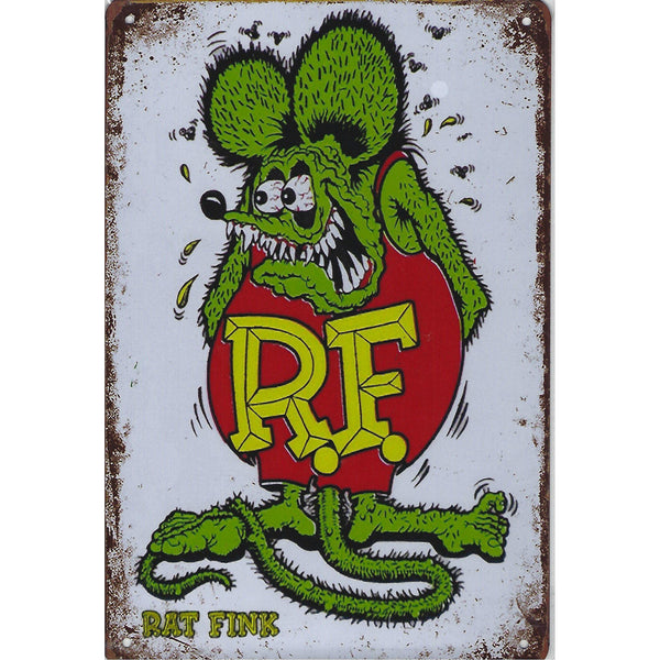 Rat Fink Tin Sign-Mr Revhead