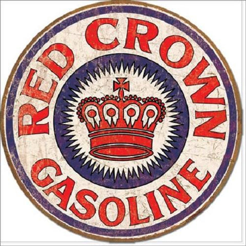Red Crown Gas Tin Sign-Mr Revhead