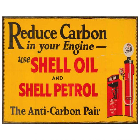Reduce Carbon In Your Engine, Use Shell Tin Sign-Mr Revhead