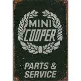Reproduction Vintage Mini Parts & Service Tin Sign-Mr Revhead