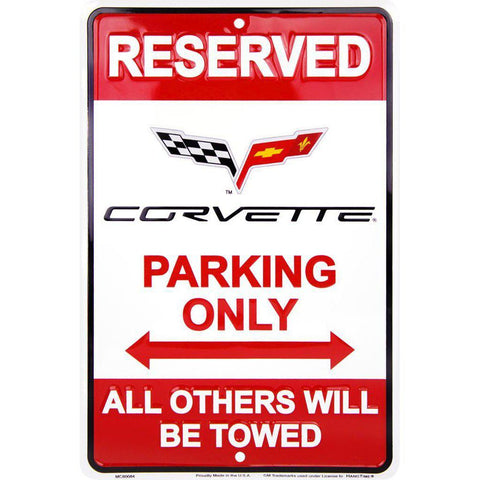 Reserved Corvette Parking Only Tin Sign-Mr Revhead