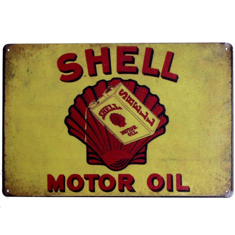 Shell Tin Signs