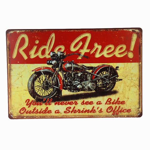Ride Free Motorcycle Tin Sign-Mr Revhead