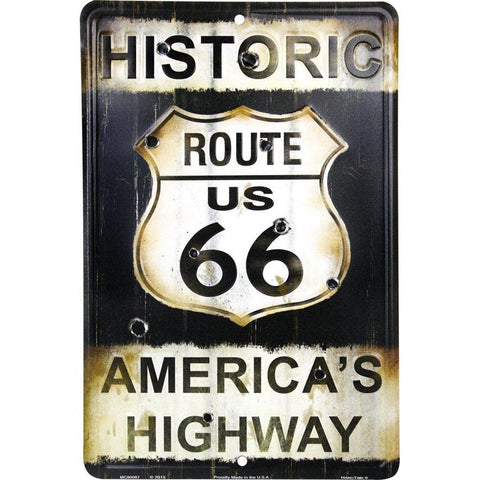 Route 66 Americas Highway Tin Sign-Mr Revhead