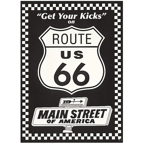 Route 66 Get Your Kicks Tin Sign-Mr Revhead