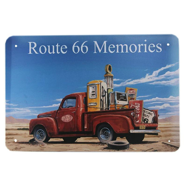 Route 66 Memories Tin Sign-Mr Revhead