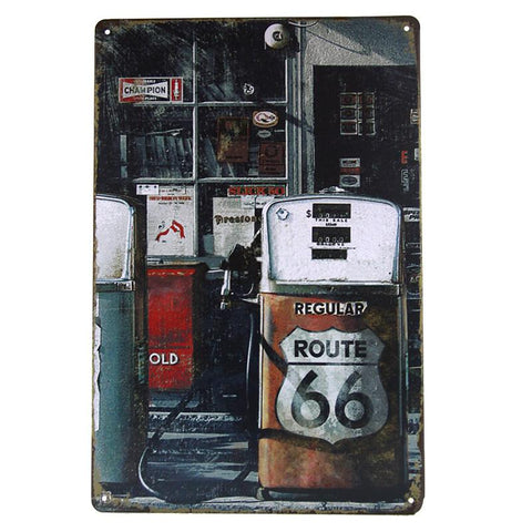 Route 66 - Painting Tin Sign-Mr Revhead