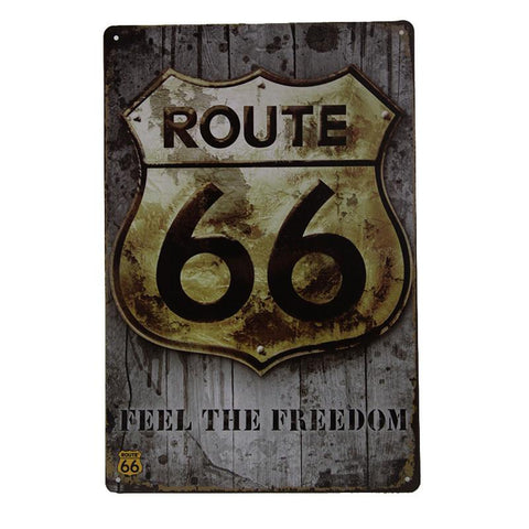 Feel The Freedom - Route 66 Tin Sign-Mr Revhead