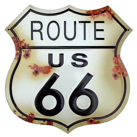 Route 66 Shield Tin Sign-Mr Revhead
