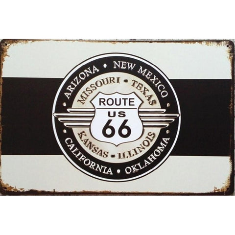 Route 66 US Retro Tin Sign-Mr Revhead