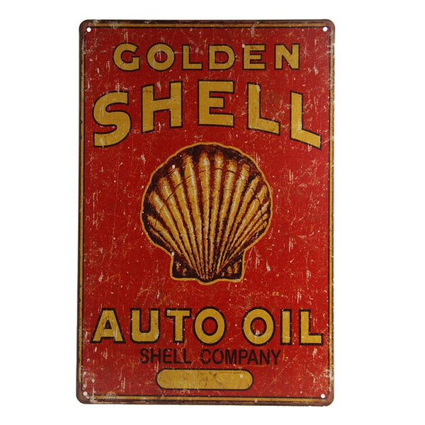 Shell Auto Oil Tin Sign-Mr Revhead