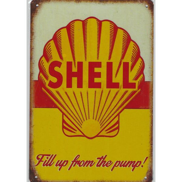 Shell Tin Sign-Mr Revhead