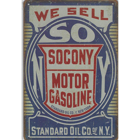 Socony Motor Oil Tin Sign-Mr Revhead