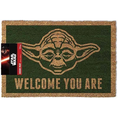 "Star Wars - Yoda ""Welcome You Are"" Door Mat-mightymoo"