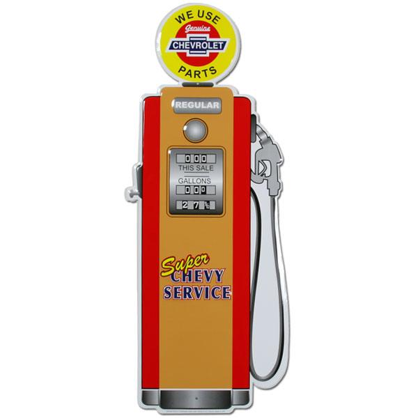 Super Chevy Service Gas Pump Tin Sign-Mr Revhead