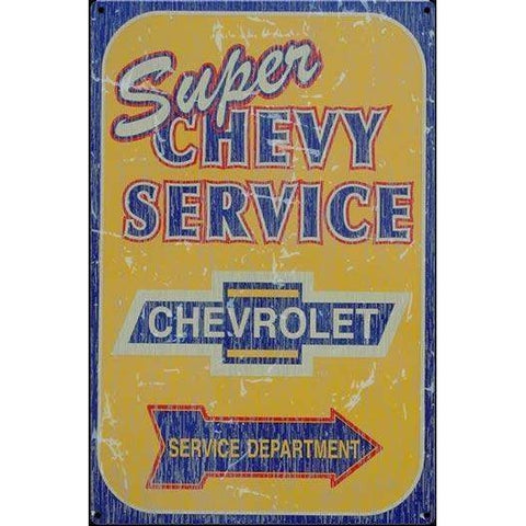 Super Chevy Service Tin Sign-mightymoo