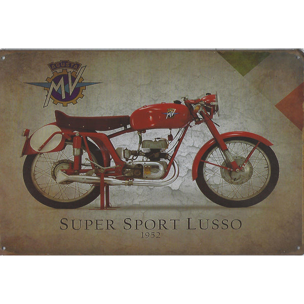 Super Sport Lusso Motorcycle Tin Sign-Mr Revhead