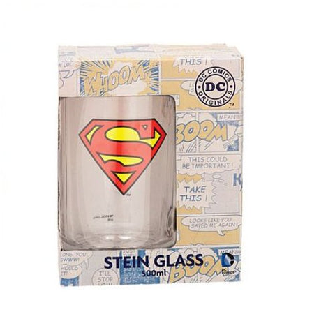 Superman Beer Glass-mightymoo