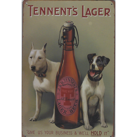 Tennents Lager Tin Sign-Mr Revhead