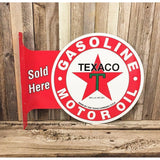 Texaco Gasoline Motor Oil Sold Here Tin Sign-Mr Revhead
