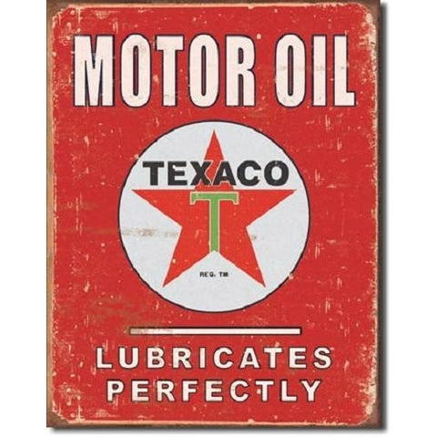 Texaco - Lubricates Perfectly Tin Sign-Mr Revhead