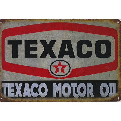 Texaco Motor Oil Tin Sign-Mr Revhead